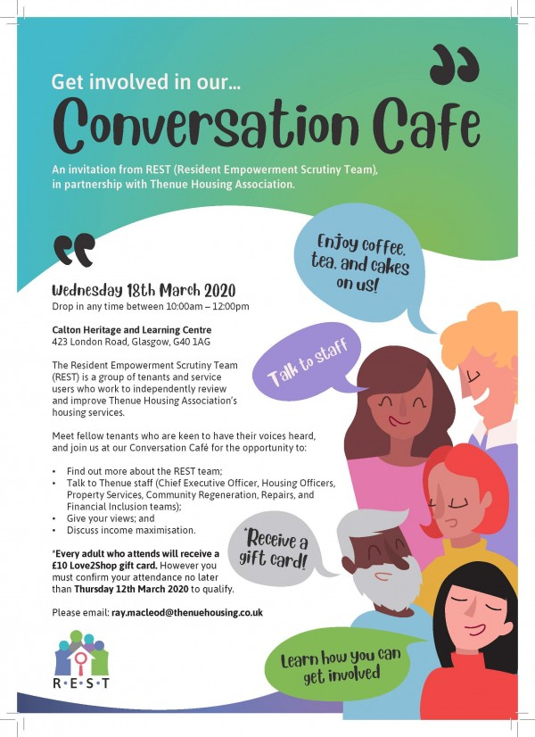 Start a Conversation (and treat yourself to a free cuppa and cakes)!