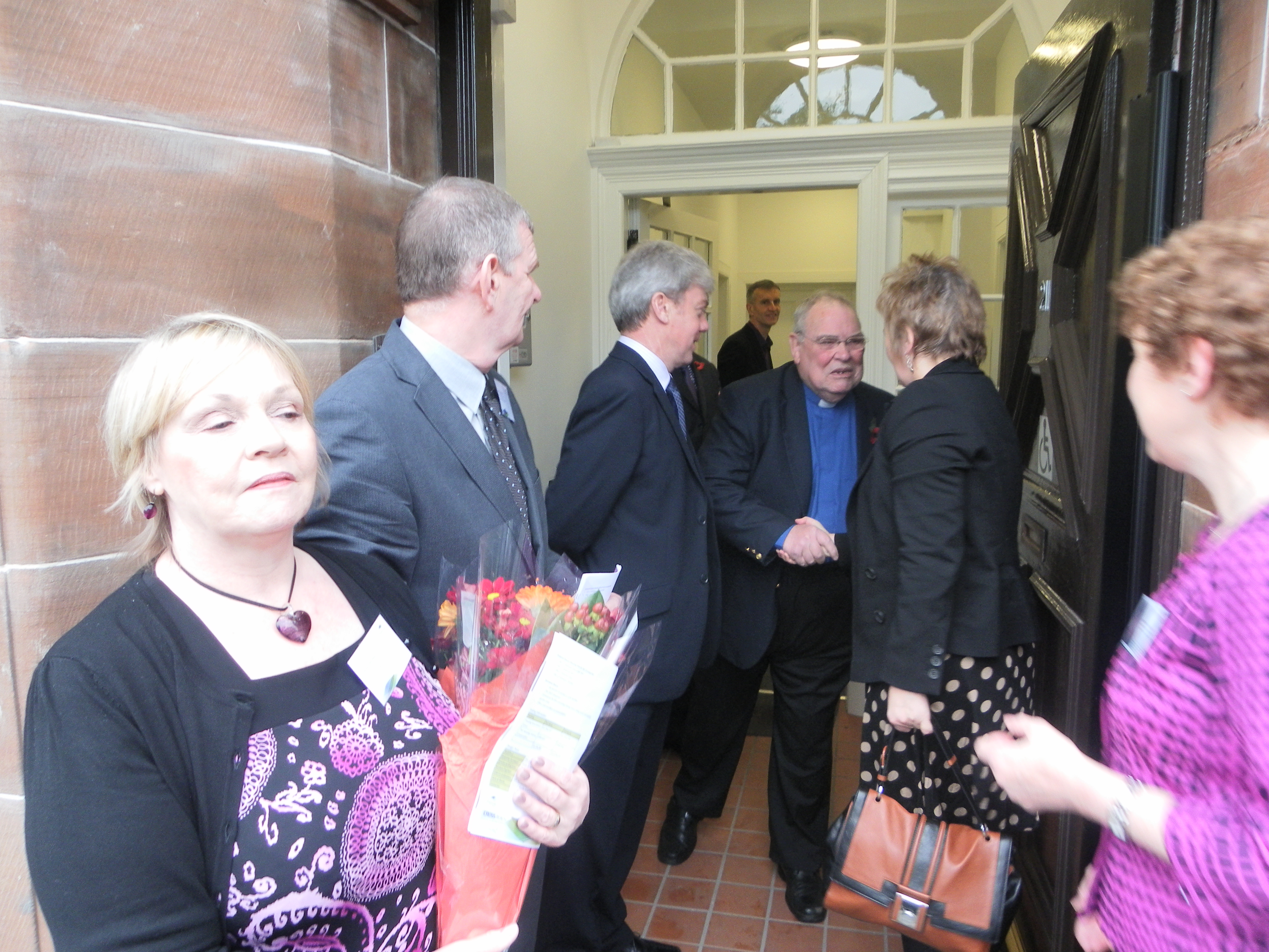 - Roseanna Cunningham MSP is introduced to the offical party